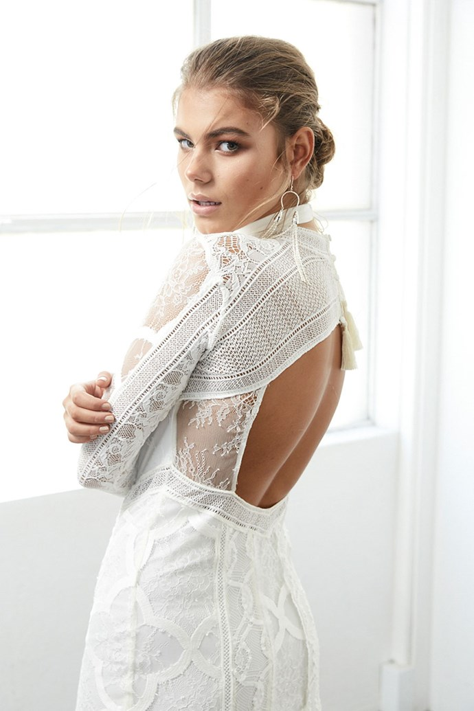 "In a statement, Grace Loves Lace reveals that BLANC is a 13-piece collection which ""features bold designs and striking silhouettes for the modern romantic who isn't afraid to make a statement."" AKA a collection made up of all of your dreams come true."