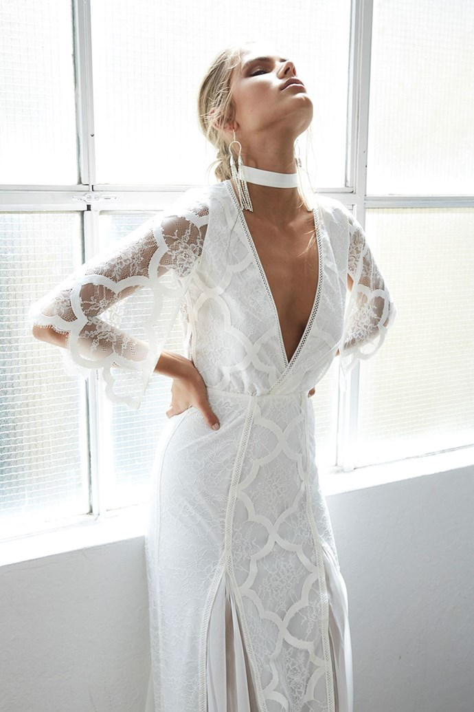 Low-cut necklines are perfect for a bride who wants just the right amount of sexiness...
