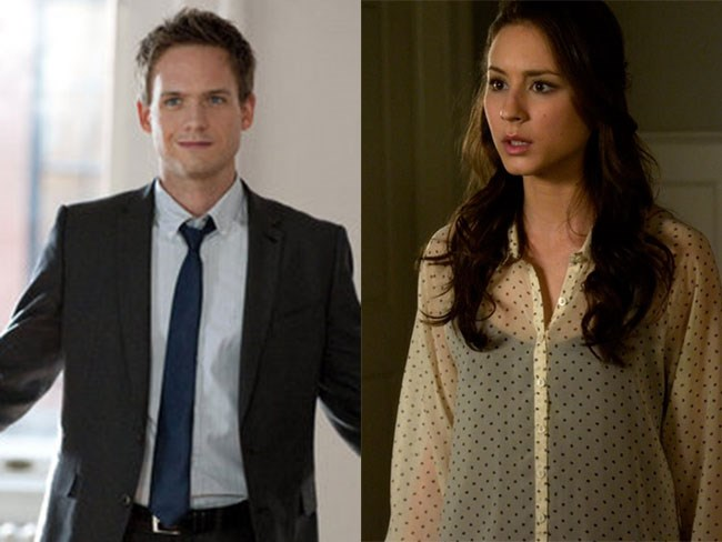 **Mike Ross from *Suits* and Spencer Hastings from *Pretty Little Liars*** Yep, real life couple... Match made in brainy person heaven.
