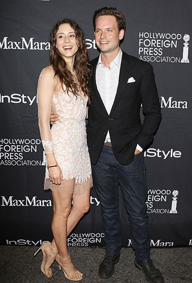 In fact, Troian Bellisario and Patrick J. Adams are engaged!