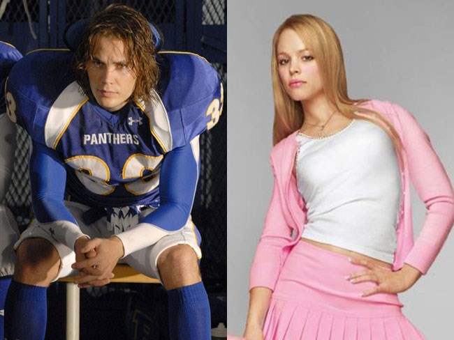 **Tim Riggins from *Friday Night Lights* and Regina George from *Mean Girls***. This shouldn't work but it does.