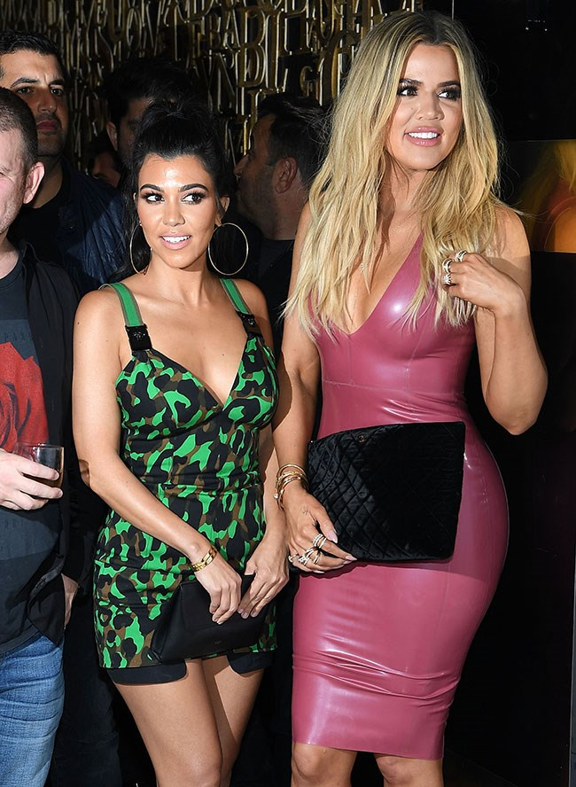 Kourtney and Khloe look fiiiine and you know they know it.