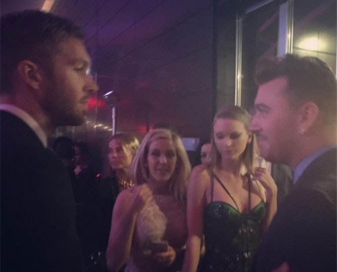 "**Feb 2015** The moment Talvin met! [Captured by this clever cookie](http://www.cosmopolitan.com.au/celebrity/celebrity-gossip/2016/2/moment-taylor-swift-calvin-harris-met/|target=""_blank"") at the ELLE Style Awards."