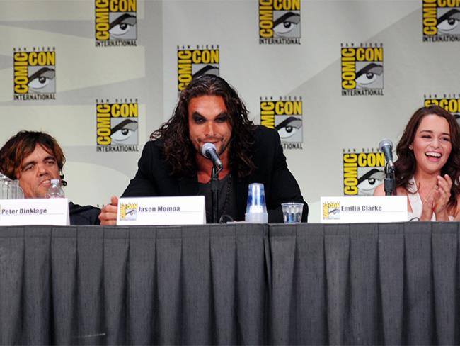 That time he wore mountains of black eye shadow to the *Game of Thrones* panel at Comic Con. And still looked hot.