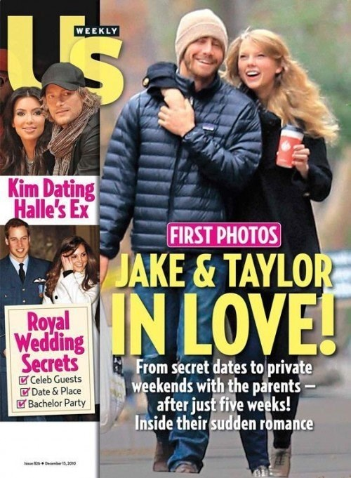 **5. Jake Gyllenhaal: Dated Taylor October 2010-January 2011**    This was weird. It just was. Jake found himself the subject of many a T-Swizzle song. He reportedly spent $160,000 to have her flown over on a private jet for a date but later broke up with her via text. But we will be forever grateful for their courtship, if only for providing us with the greatest break-up anthem of modern times, 'We Are Never Ever Getting Back Together.'