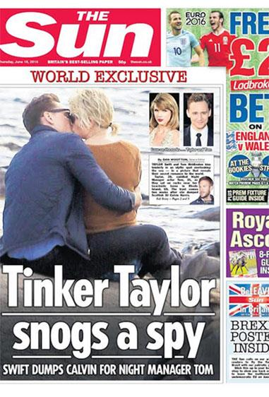 **1. Tom Hiddleston: **Dated Taylor June 2016 -Sep 2016 Oh balls. This is raw, man. We were shipping the shit out of the fact motherflippin'.So he gets to be number 1. Because he's LOKI. RIP Hiddleswift.