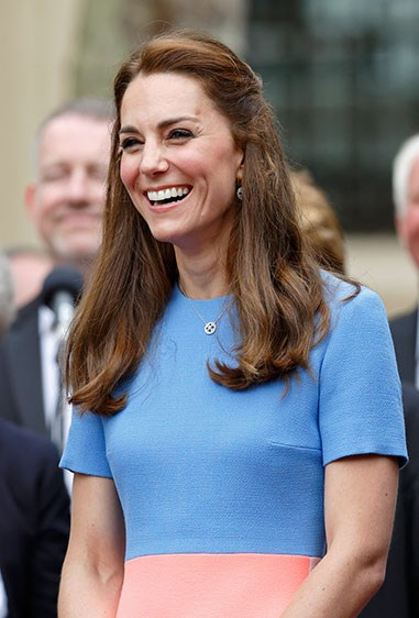 **3. Kate Middleton** Even the Royals are in on it, with Kate tying back the top half of her hair, adding a bit of variety to her signature princess blowout.
