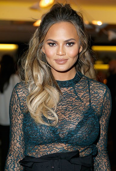 **5. Chrissy Teigen** If you have highlights in your hair, à la Chrissy T, this style is fab for showing off your tones from root to tip.