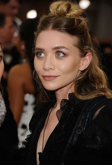 **7. Ashley Olsen** Ash knows what's up, using bobby pins to hold her high AF bun in place.