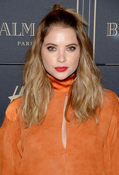 **17. Ashley Benson** When you've got super-voluminous hair like Ash, sometimes even just taking a *few* strands aside can help make you feel instantly more glam.