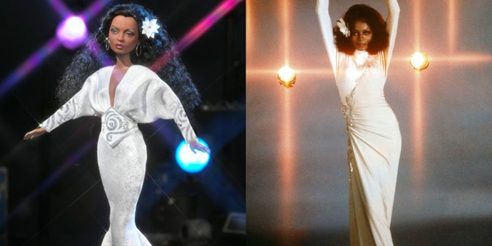 """**DIANA ROSS**   We have """"Endless Love"""" for this Diana Ross Barbie, and frankly there """"Ain't No Mountain High Enough"""" to keep us away from it, though at the end of the day our motto continues to be """"I Will Survive."""" (Sorry for literally all of that.)"""
