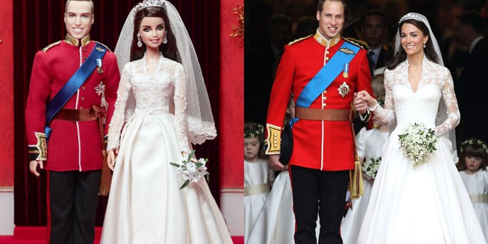 **PRINCE WILLIAM AND KATE MIDDLETON**    Okay, we see you guys, but where is the cute bored flower girl doll?