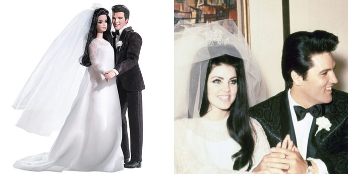 **ELVIS AND PRISCILLA PRESLEY**   If it's wrong to say Barbie Priscilla and Barbie Elvis are relationship goals, we don't want to be right.