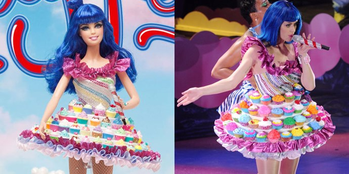 **KATY PERRY**   This is our favourite celebrity Barbie of the bunch for obvious reasons relating to cupcakes.