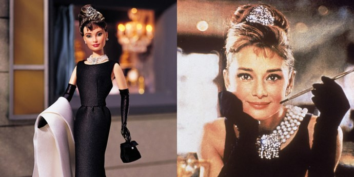 **AUDREY HEPBURN**   Honestly, it's impossible to look at this doll and *not* have an inexplicable urge for coffee and a side of diamonds.