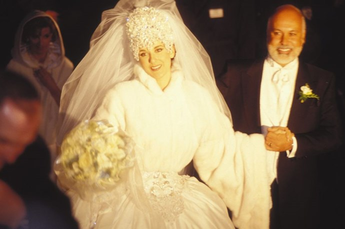 """**1994: CELINE DION**   The iconic singer kicked off her marriage to her [manager Rene Angélil](http://www.goodhousekeeping.com/life/relationships/g3070/celine-dion-rene-angelil-romance/