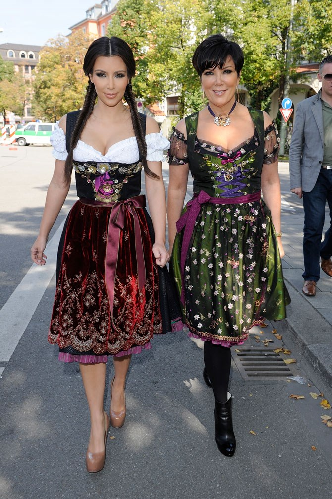 Even when she's in costume for Oktoberfest she slays, she slays, she slays.