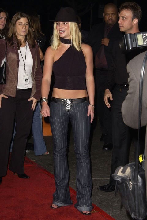 **PANTS WITH LACE-UP-CROTCHES**    *Britney Spears at the premiere of Four Feathers on Sept. 17, 2002.*