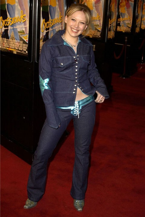 **PANTS WITH LACE-UP-CROTCHES**    *Hillary Duff at the premiere of Crossroads on Feb. 11, 2002.*