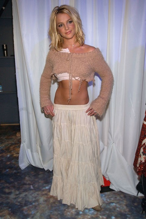 **THE SHIPWRECKED LOOK**    *Britney Spears at MTV's TRL Awards on Feb. 17, 2003.*