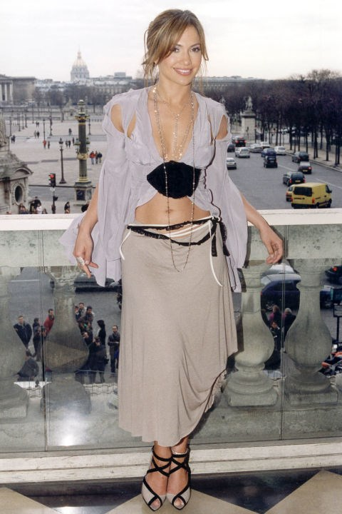 **THE SHIPWRECKED LOOK**    *Jennifer Lopez promoting Maid in Manhattan in Paris on Feb. 23, 2003.*