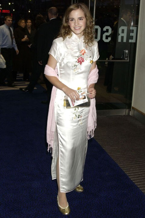 **PASHMINAS   ***Emma Watson at the premiere of Wimbledon on Sept. 20, 2004.*