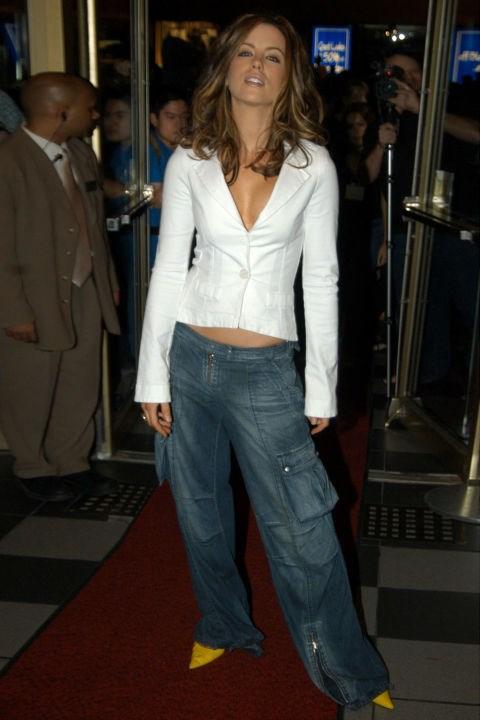 **CARGO PANTS**    Pockets full of secrets.    *Kate Beckinsale at the premiere of Underworld on Sept. 8, 2003.*