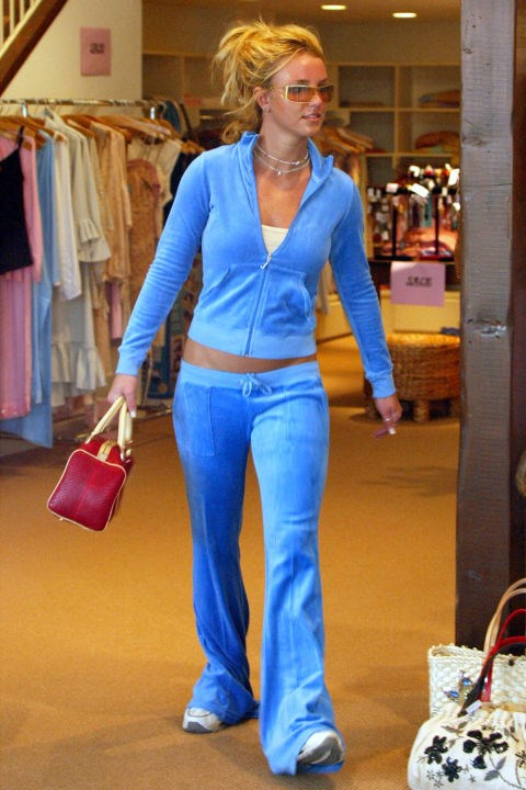 **JUICY COUTURE TRACKSUITS**    *Britney Spears shopping in Hollywood on Feb. 14, 2003.*
