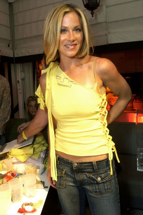 **DIY T-SHIRTS**    *Christina Applegate at the PlayStation 2 Bungalow Beach Party on May 16, 2003.*