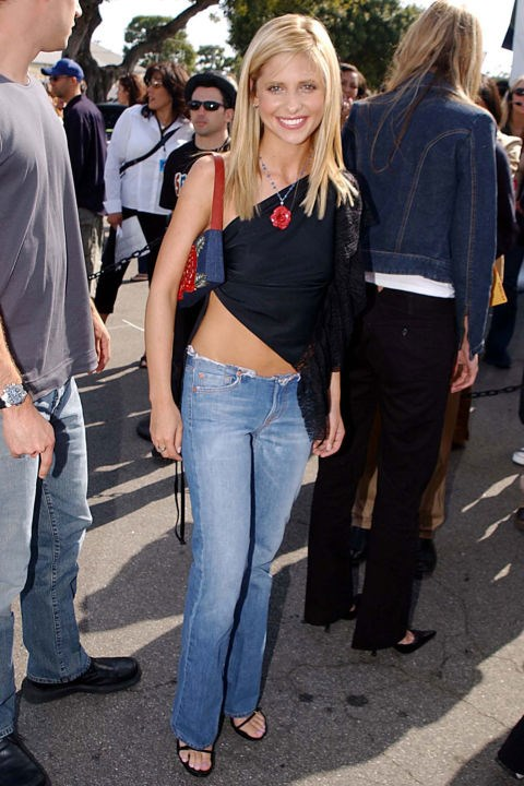 **TOPS THAT WEREN'T REALLY TOPS**    *Sarah Michelle Gellar at the Kids' Choice Awards on April 20, 2002.*