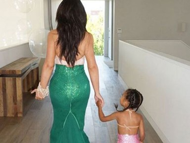 Kim Kardashian wore an old Halloween costume for North's birthday party