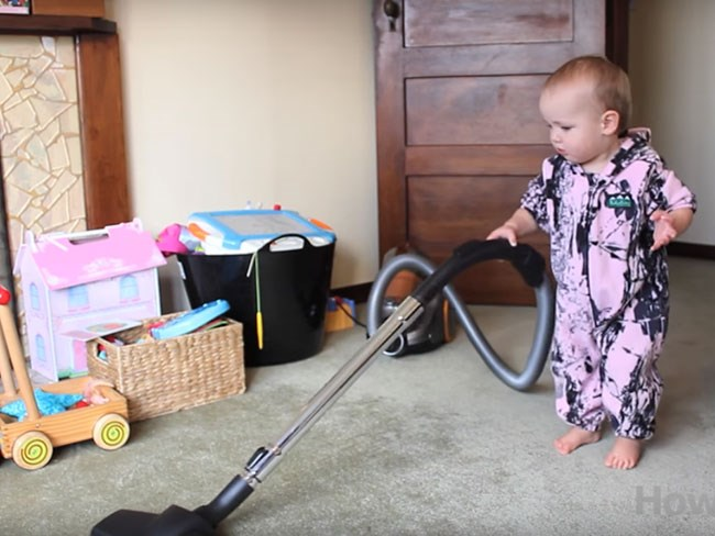 How to train your baby to clean