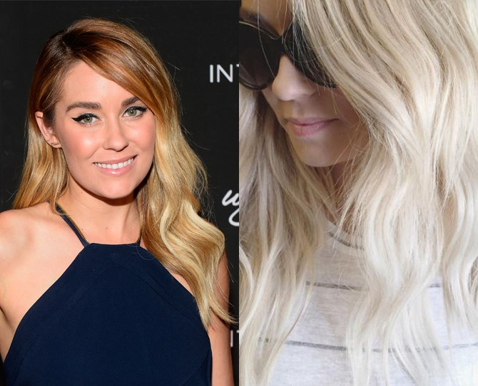 "Celebrity hairstylist Kristin Ess posted this snap of Lauren Conrad's icy new 'do on Instagram with the caption: ""Got to spend this morning with my human doll [@laurenconrad](https://www.instagram.com/laurenconrad/) and some of my fave ladies at [@enews](https://www.instagram.com/enews/)[@cinalin](https://www.instagram.com/cinalin/) [@iamcattsadler](https://www.instagram.com/iamcattsadler/) {hair by me & makeup by [@amynadinemakeup](https://www.instagram.com/amynadinemakeup/). just a bunch of hard working ladies making the world go round."""