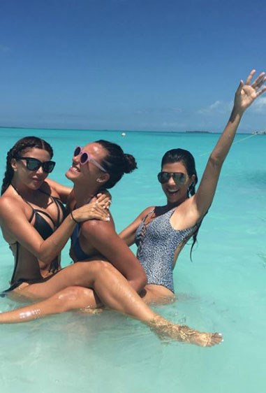 See what we mean when we said she's loving life? Literally, never seen Kourt happy happier.