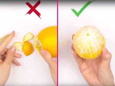 Mind blown: You've been peeling fruit wrong your whole life