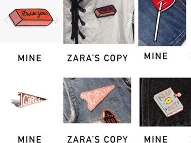 Zara copied an indie artist's designs but said it's NBD 'cause she's not famous