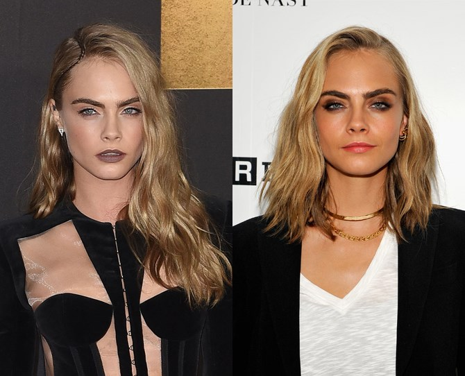 Cara Delevingne has chopped off her signature long waves and DAYUM, she looks good. She debuted the look at Comic Con on July 21 while promoting her latest move *Valerian and the City of A Thousand Planets*, where the first look trailer got a standing ovation. Girl's got skillz!