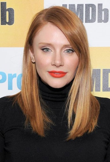 """**CINNAMON-Y STRANDS** Bryce Dallas Howard has a red hair colour everyone loves. It's fiery and vibrant yet is still a deep red — it's perfect for spring. Look for terms like """"cinnamon"""" and """"copper"""" on at-home box kits."""