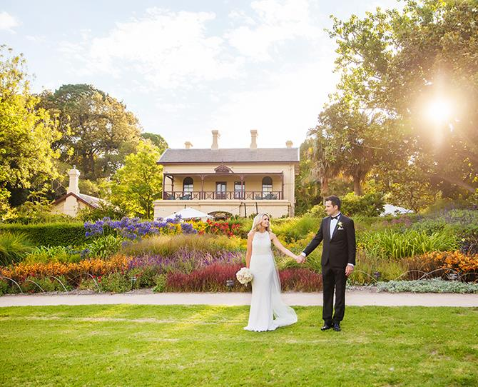 **VICTORIA** **Gardens House – Royal Botanic Gardens, South Yarra**  **[peterrowland.com.au/weddings](http://www.peterrowland.com.au/weddings)**   **Why it's amazing:** A gorgeous Georgian cottage, Gardens House is set in the beautiful Royal Botanic Gardens, just minutes from the Melbourne CBD… but it feels worlds away. The location's sprawling lawns are perfect for marquees or garden parties with historical heritage touches and multiple reception areas.   **And there's more:** The venue is managed by Peter Rowland Wedding Consultants, who have over 10 years' experience in planning weddings, so you won't have to worry about a single thing leading 