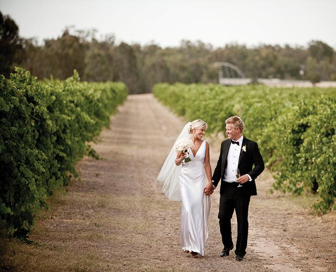 **VICTORIA** **All Saints Estate, Wahgunyah** **[allsaintswine.com.au](http://www.allsaintswine.com.au)**   **Why it's amazing:** This vineyard location, set in the grounds of an 1864 heritage-listed castle, boasts big, elm tree-lined driveways and all-encompassing winery views. You'll love the incredible food and service in an elegant rural venue with the ambiance of a 150-year-old location.    **And there's more:** The Rose Garden is surrounded by mega-lush green lawns overlooking the lily pond and, as the name suggests, a sweet-smelling rose garden. Hold your reception in one of the unique vineyard locations like The Cask Hall, on the site of the original mud brick winery, the working site prior to 1880. You can even sign your marriage license on a wine barrel signing table