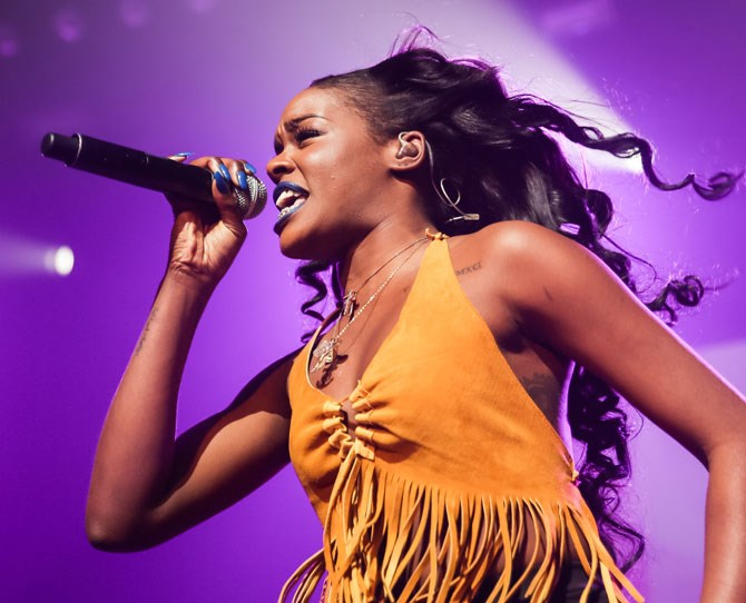 "**Azealia Banks** Rapper Azealia Banks finally came out of the Trump closet on Twitter stating that 'I think I'm ready to admit that I'm going to vote for Donald Trump.' The 25-year-old goes onto express that she thinks 'Trump is the only one who truly has the balls to bust up big business.' Before concluding her [Twitter rant](http://www.businessinsider.com.au/azealia-banks-endorses-donald-trump-2016-2|target=""_blank"") with 'I think Donald trump is evil like America is evil and in order for America to keep up with itself it needs him.'"
