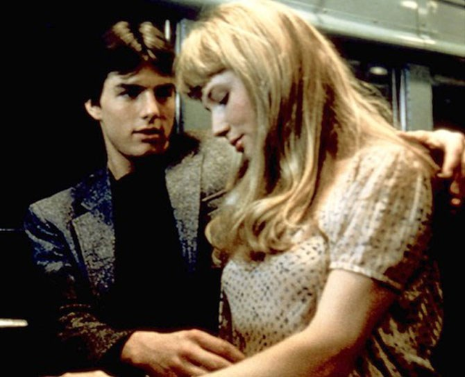 **10. Risky Business** Phil Collin's *In the Air Tonight* is playing. There is aggressive thigh caressing. Tom Cruise, not yet a scientologist, puts his hand up Rebecca DeMornay's skirt.