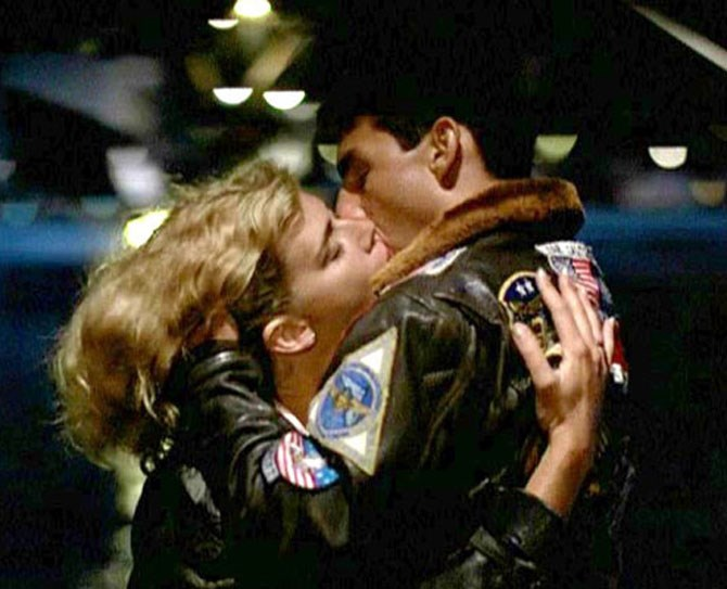 **11. Top Gun** Speaking of Tom Cruise... he and Kelly McGillis in *Top Gun*. Take my breath awayyyyyyyyy.