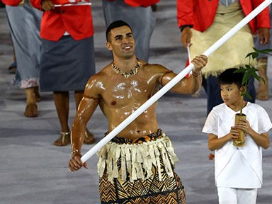 Tonga's Olympics Opening Ceremony flag bearer wins best shirtless entrance