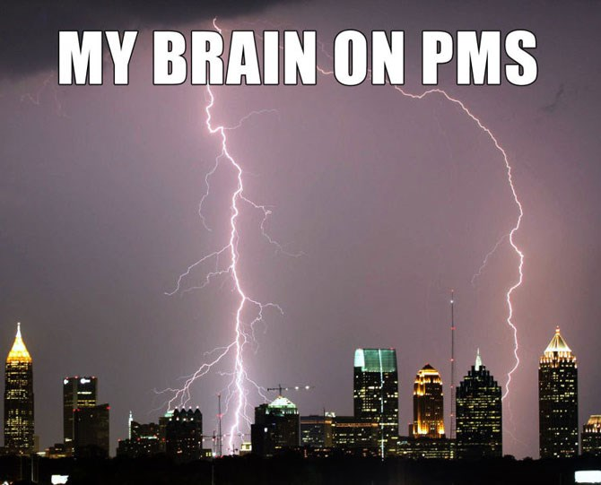 Like there is a thunderstorm happening inside my brain.