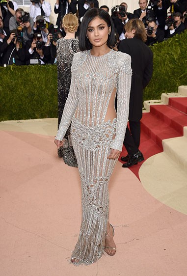 Ky's OWNED the MET gala in this naked dress encrusted with jewels because of course.