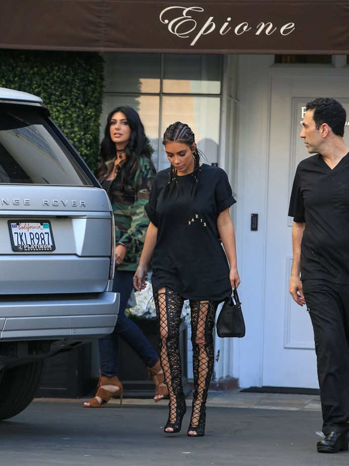 How long did it take you to get those boots on, Kimmy? For reals. We need to know.