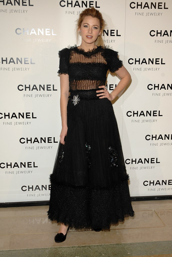 Oooh la laaaa! Blake looked like a living doll at a Chanel dinner in 2008.