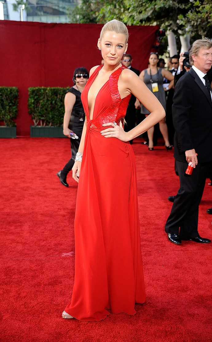 As a lady in red on the red carpet in 2009, Blake would have had ALL heads turning towards her. She is actual fire!