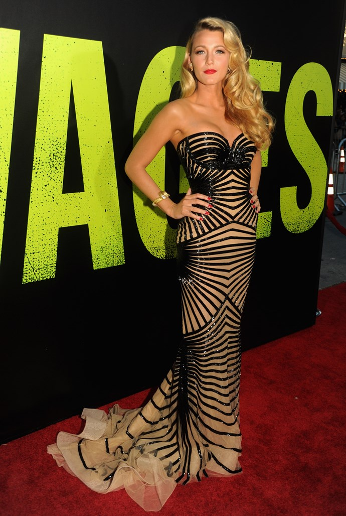 Did someone say bombshell? Blake slayed this red carpet in 2012.